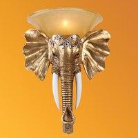 Светодио дный светодиодный стеклянный настенный светильник Домашнее освещение лампы Смола слон настенный светильник Искусство Детская Сп