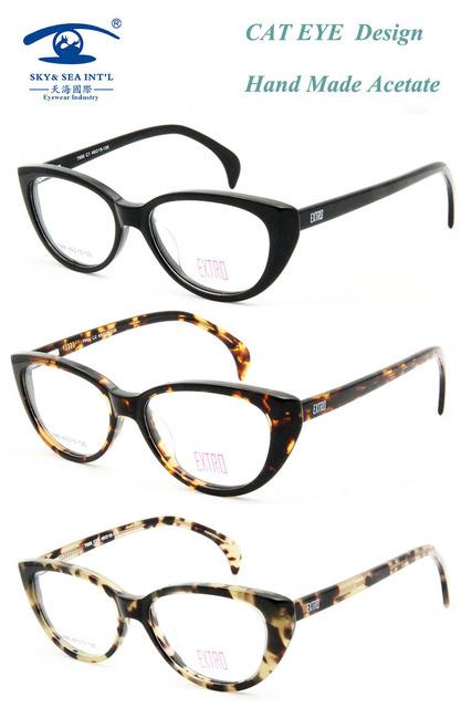 CIELO y MAR Mujeres Gafas Gafas Marco ÓPTICO Mujeres Del Ojo de Gato Diseñador oculos feminino Gafas Marcos para Las Mujeres