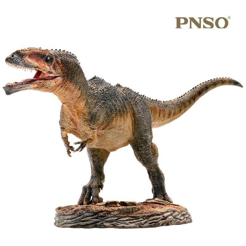 1:35 PNSO Giganotosaurus con plataforma Pedestal dinosaurio juguetes clásicos para niños colecciona muñeca de animales mandíbula móvil-in Figuras de juguete y acción from Juguetes y pasatiempos    2