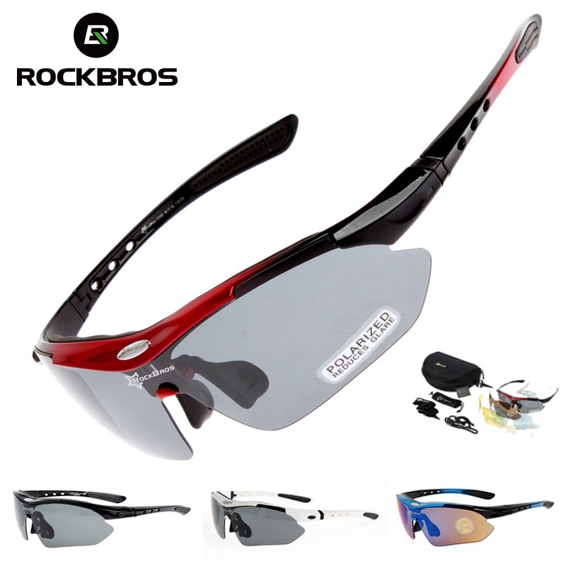 Polarized Cycling Glasses 5 Lens Clear Bike Glasses Eyewear UV400 Proof Outdoor Sport Sunglasses Men Women Oculos Gafas Ciclismo 2017 new brand mans 100% pure b titanium glasses man ultra light full frame polarized sunglasses men anti uv400 eyewear