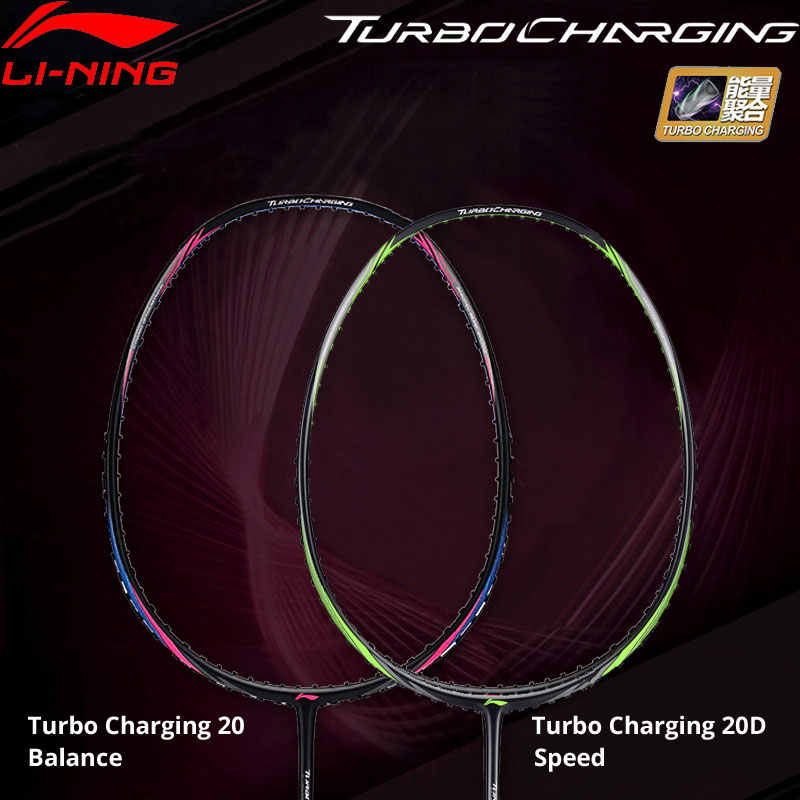 Li-Ning Turbo Charging 20/20D Badminton Racket Balance/Speed LiNing Sports Single Racket No String AYPM436/AYPP024 ZYF310