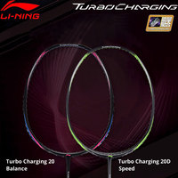 Li Ning Turbo Charging 20/20D Badminton Racket Balance/Speed LiNing Sports Single Racket No String AYPM436/AYPP024 ZYF310
