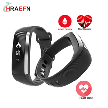 Heart rate monitor smart band M2 Blood Pressure Oxygen Oximeter bluetooth fitness Bracelet tracker wristband For iOS Android