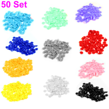 Newest 50 pcs/set  T5 Plastic Button Resin Snaps Fasteners Dummy Clips Press Studs New XQ Drop shipping