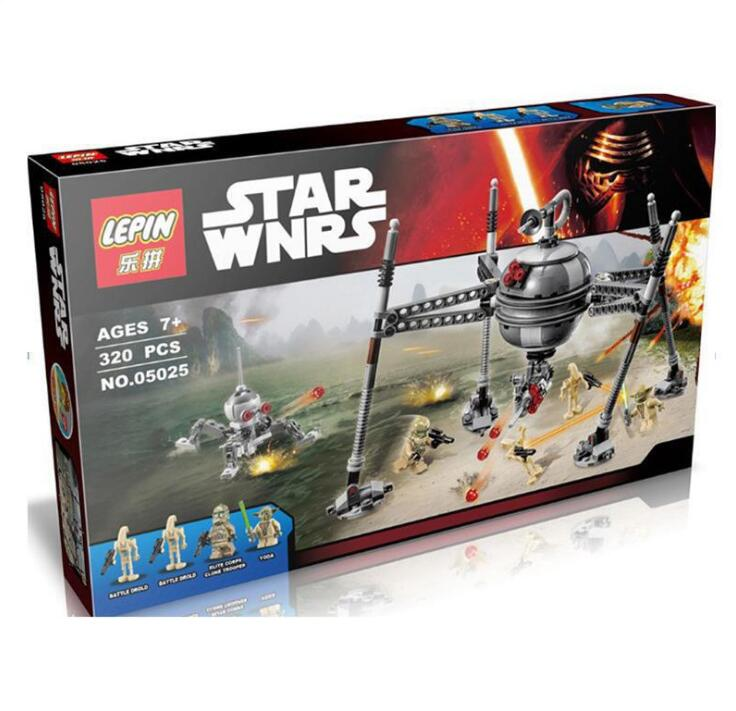 05025 Star Wars Homing Spider Building Blocks Starwars Droid Yoda Master Building Christmas Compatible With lepin