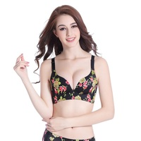 4b0cb51f3 Women Seamless Bra Push Up Sexy Lingerie Printed Floral Bralette 2019 Wire  Free Bras 3 4. US  11.60. Mulheres Sutiã ...