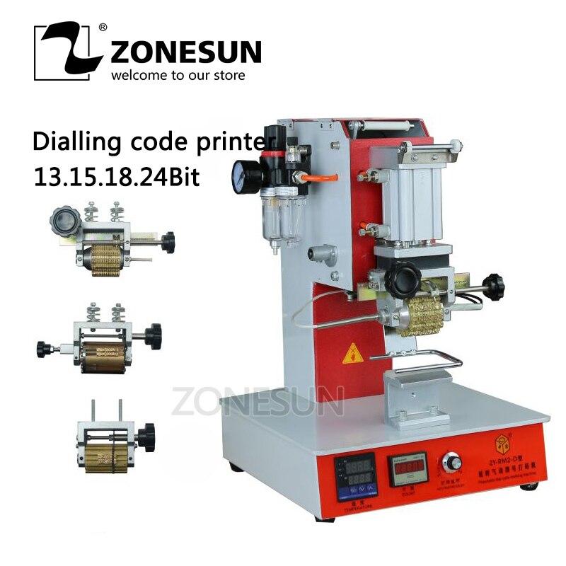 ZONESUN High Speed Portable Pneumatic Dial LOGO Code Printer