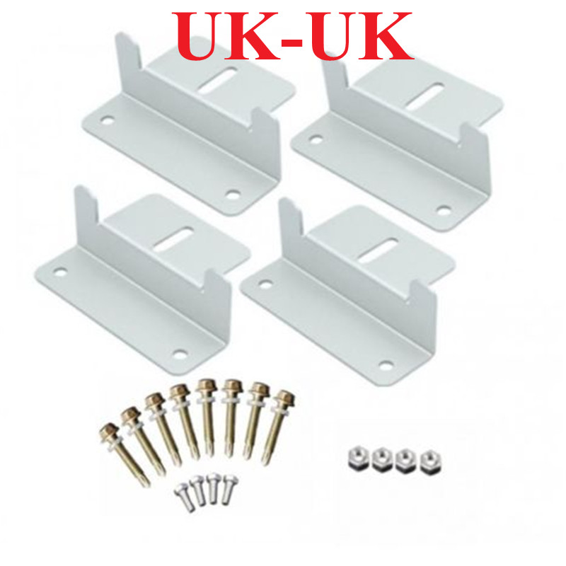 Z Style Solar Panel Mounting Brackets 1 Set with Nuts and BoltFor RV Boat Off Grid Aluminum
