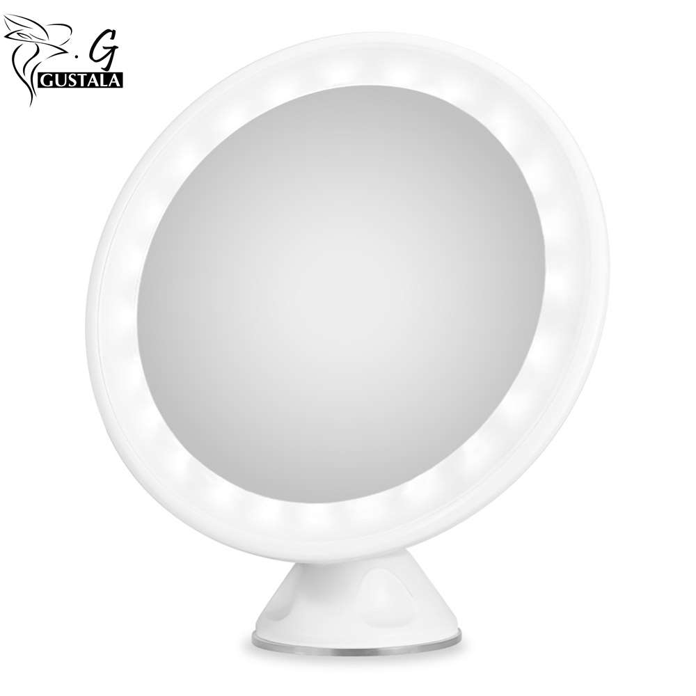 Gustala 7X Magnifying Makeup Mirror With Light LED Vanity Mirror Tabletop  Cosmetic Mirror Makeup Tools De