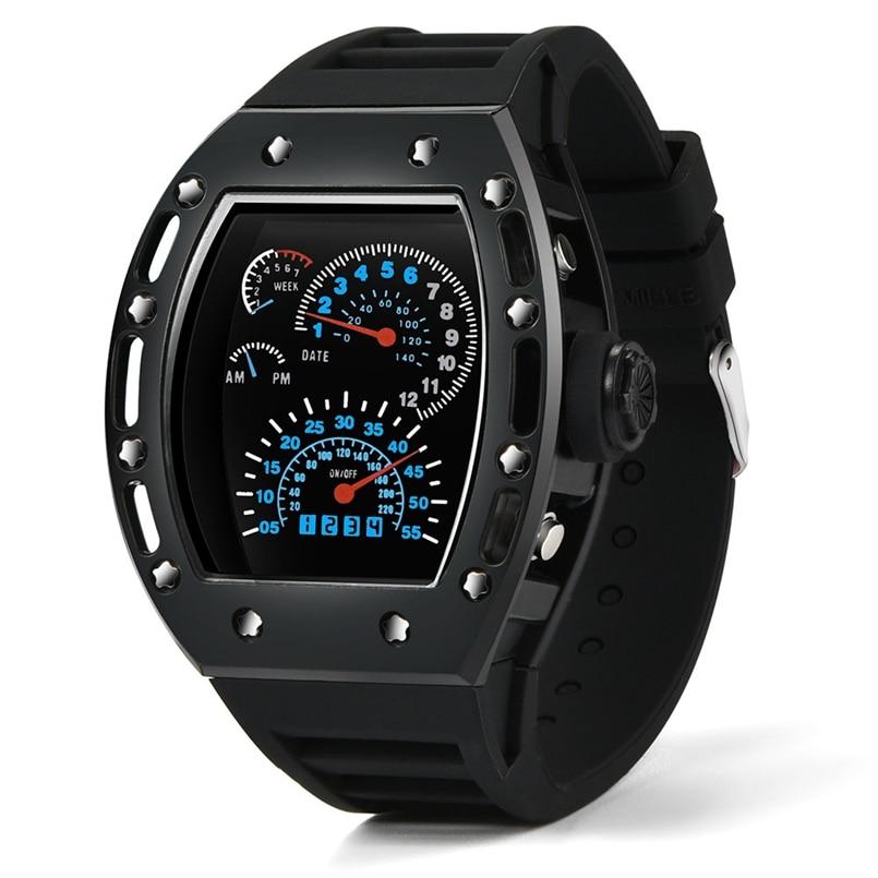 New Arrive Fashion Luxur LED Date Watch Sport Quartz Wrist Men Analog Digital Army Military Relojes Hombre
