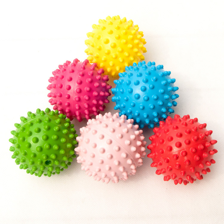 6pcs lot Baby mini small hand touch ball massage baby grasping font b toy b font