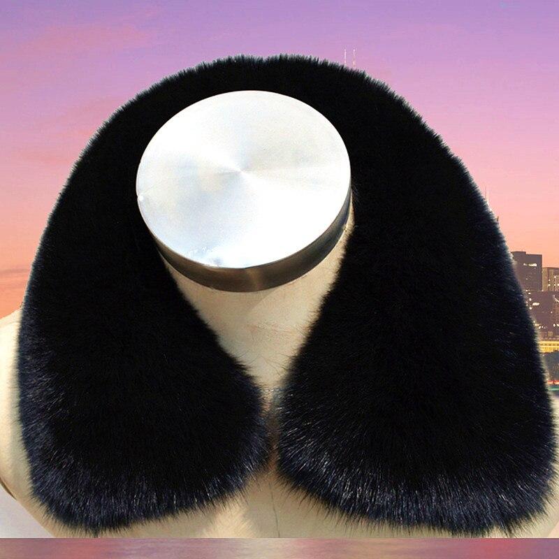 100% authentic rabbit fur collar black full leather scarf men and women jacket universal wild