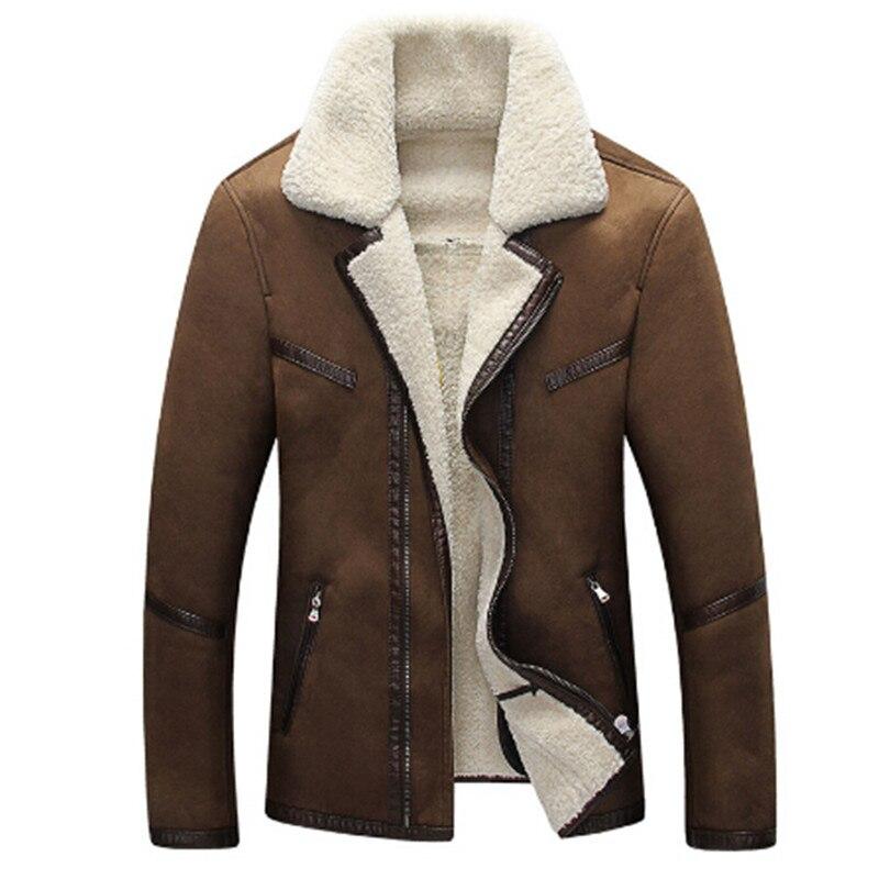 2018 Herren Pelz Leder Jacke Mäntel Neue Formal Fell Streetwear Plus Größe 4xl Westlichen Land