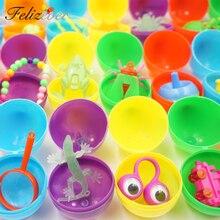 Huevos de Pascua con juguetes para niños, lote de 36 Uds de huevos de conejo de pascua, bolsa de relleno, juego de cazador de huevos para niño y niña