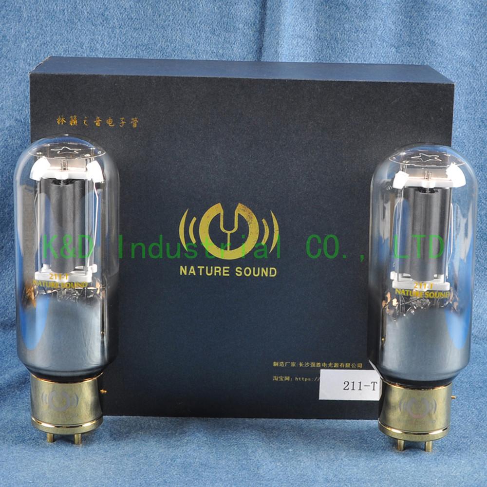 One Matched Pair Tested Vacuum Nature Sound 211-T Tube Hifi audio Amp DIY