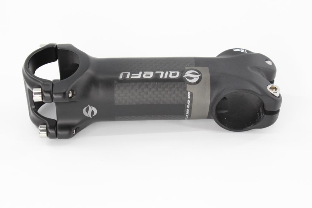 Nový příchod šedá QILEFU horské a silniční kolo matná slitina karbonových vláken stopka MTB lehké díly 31.8 * 90/100/110 / 120mm Doprava zdarma