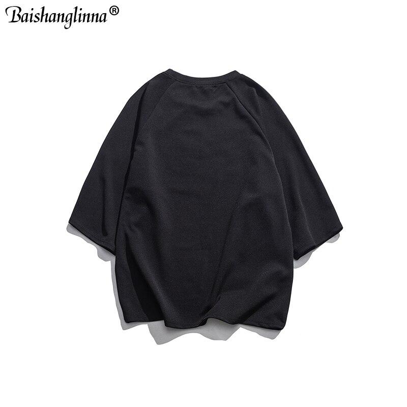 Baishanglinna 2019 Men Hip Hop T Shirt Word Print T Shirt Streetwear Harajuku Tshirt Summer Half Sleeve Tops Tees in T Shirts from Men 39 s Clothing