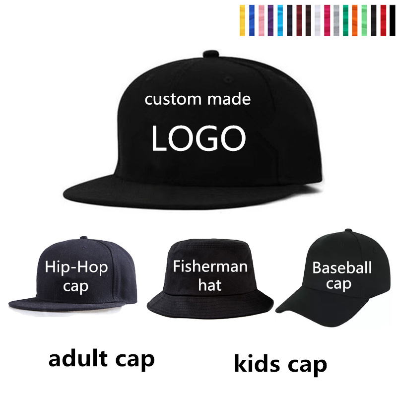a12f9551 Adult Children Custom Baseball Cap LOGO Embroidery Kick Hat 3D Custom Hat  Wedding Class Collective Hat Wholesale-in Baseball Caps from Men's Clothing  & ...
