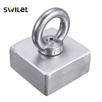 SWILET 1 Pcs Block 50x50x25MM Super Strong N52 High Quality Rare Earth Neo Magnet Neodymium Powerful