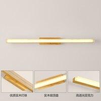 Giapponese in legno applique da parete scala minimalista corridoio lampada da comodino lampada bagno lampade a specchio frontale lampade da parete creativo ZA