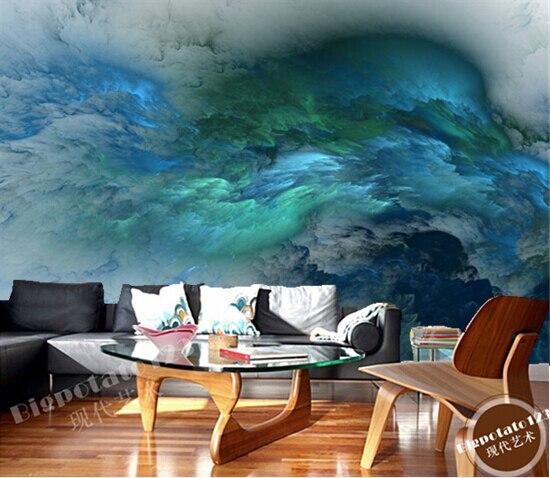 Elegant Personnalisé Papier Peint Au Plafond, Étoile Nébuleuse Peinture à Lu0027huile  Pour Le Salon