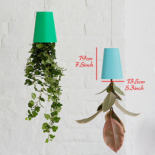 1 Piece 6 Colors 7.5 Inch Upside Down Sky Planter For Art Home and Office Decorative Hanging Flower Pot