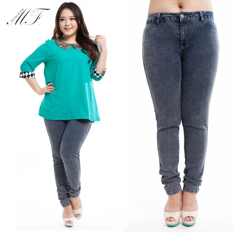 hot plus size jeans - Jean Yu Beauty