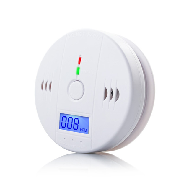 85dB Warning High Sensitive LCD Photoelectric Independent CO Gas Sensor Carbon Monoxide Poisoning Alarm Detector