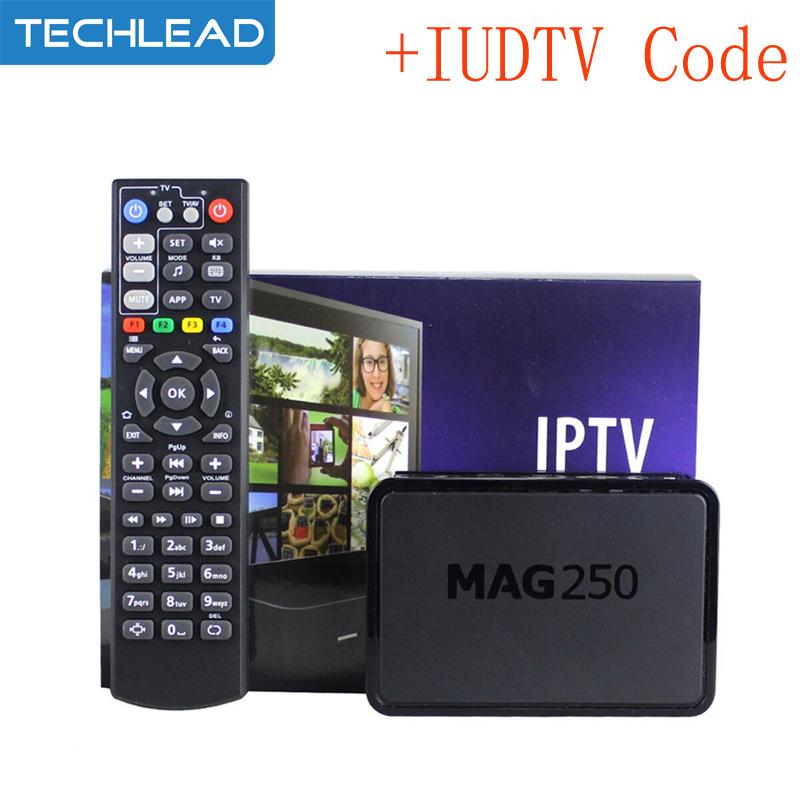 Prix pour Mag250 TV Box + 1 Année IUDTV IPTV Compte Suède Français Italie ciel albanais ROYAUME-UNI Arabe sport TV Europe code m3u mag 250 ip tv boîte