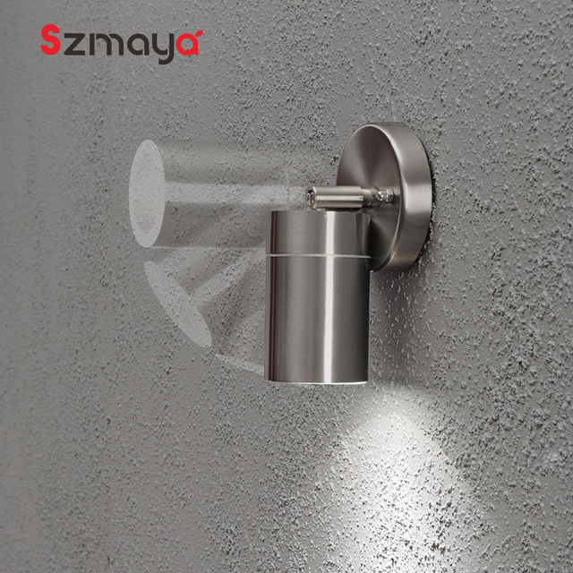 304 Stainless steel led wall light,35W waterproof IP54 gu10 100-220V led lamp for home,tempered glass diffuser christmas lights