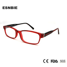 MOQ 1 Piece New CP Injection Red Blue Color  Italy Design Womens Optical Frame