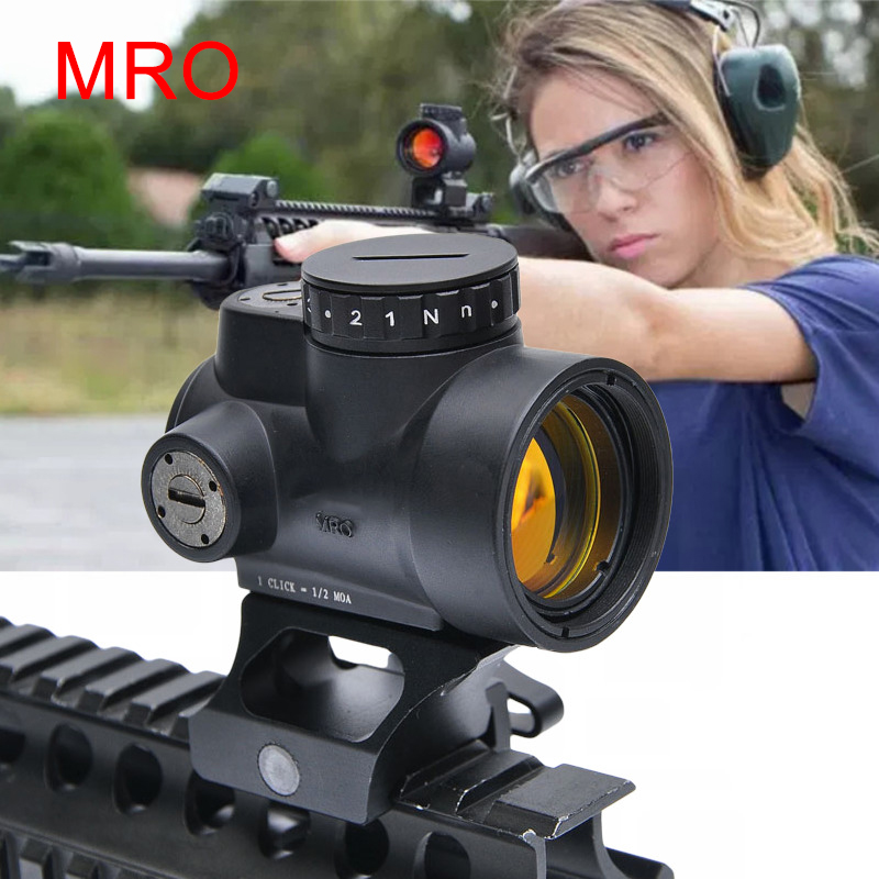 Trijicon MRO Holographic Red Dot Sight Scope Hunting Riflescope Illuminated Sniper Gear for Tactical Rifle Scope