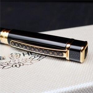 Image 2 - Hero 979 Square Cap Metal Fountain Pen Golden Plates Clip Iridium Fine Nib 0.5mm Fashion Writing Ink Pen for Office Business
