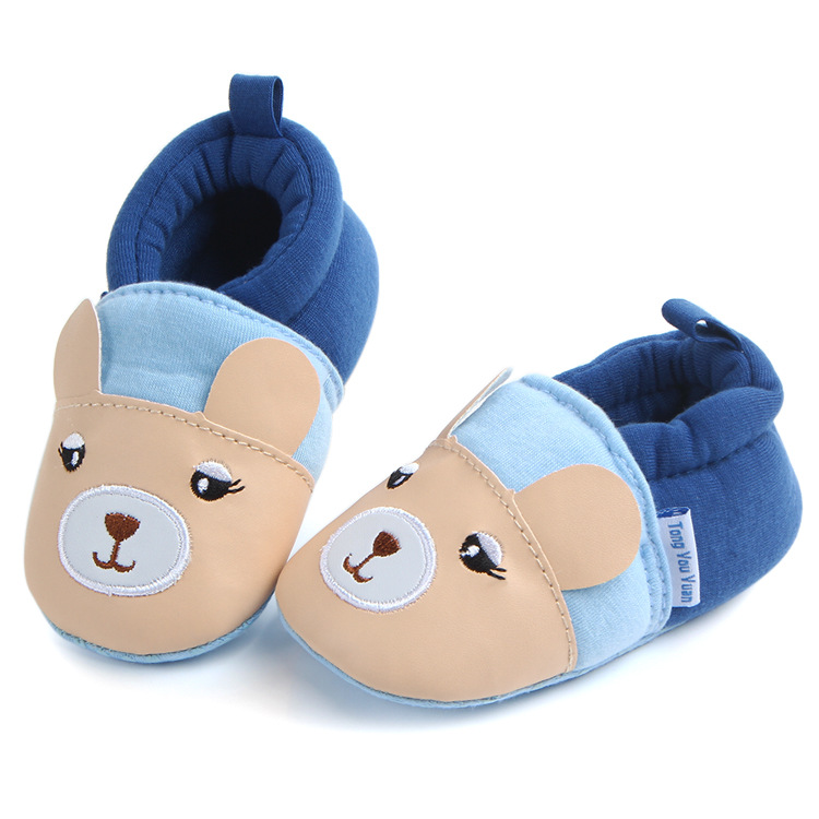 2018 Autumn Animal Style Infant Baby Moccasins Shoes Cartoon Newborn Baby Girls Boys Slippers Soft Sole First Walkers