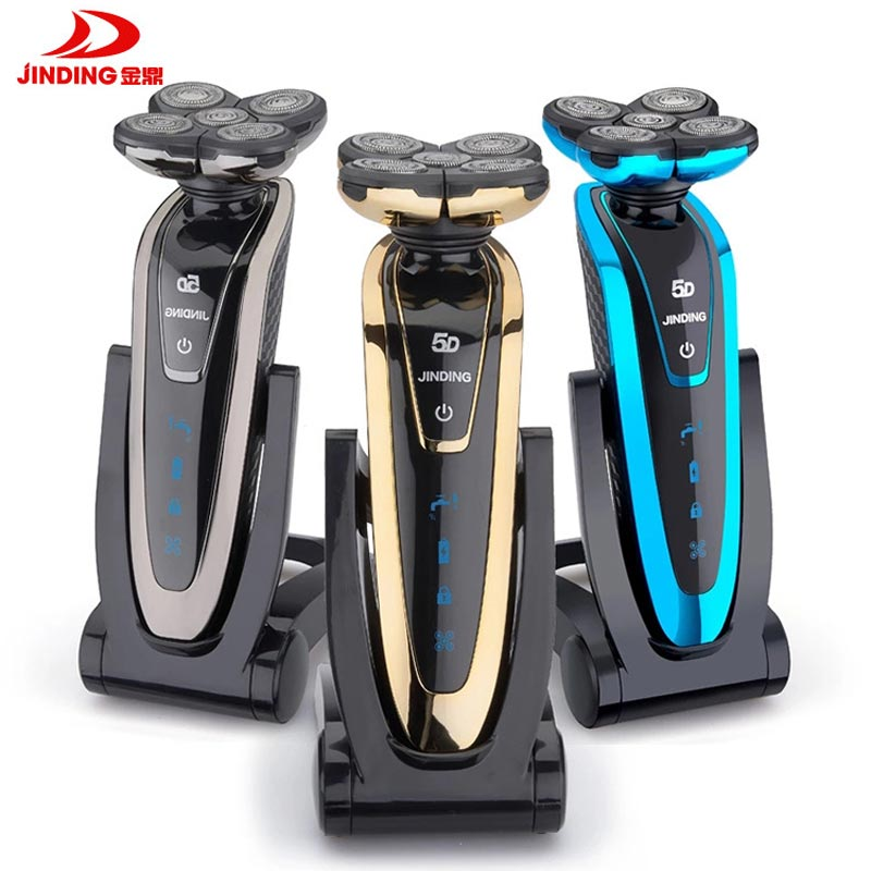 JINDING 5D Floating Head Electric Razor Men Shaving Machine Waterproof Rechargeable Whole Body Washing Electric Shaver philips electric shaver s108 rechargeable with comfortable shaving system with double heads of the whole body washing for men page 8
