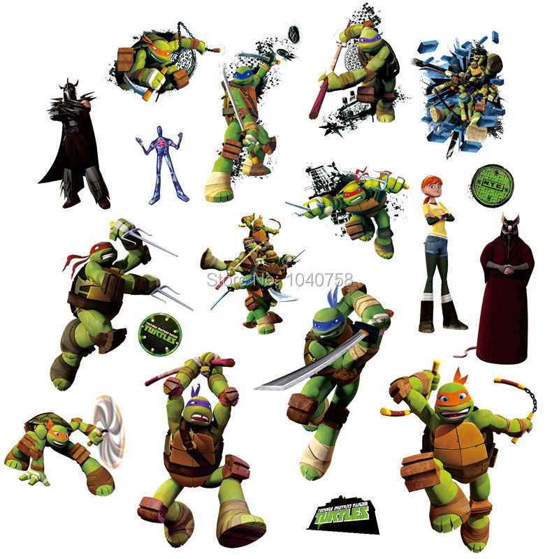 teenage mutant ninja turtles leo miki wall stickers