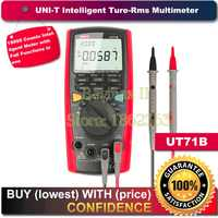 UNI T UT71B Intelligent Digital Multimeter Tester True RMS LCR AC DC with a USB cable