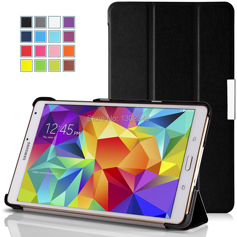 Lightweight Wake/Sleep Stand Case Ultra Slim MagSmart PU Leather Tablet Shell Cover For Samsung Galaxy Tab S 8.4 T700 T701 T750C 2014 for samsung galaxy note 8 0 n5100 n5110 book cover ultra slim thin business smart pu leather stand folding case