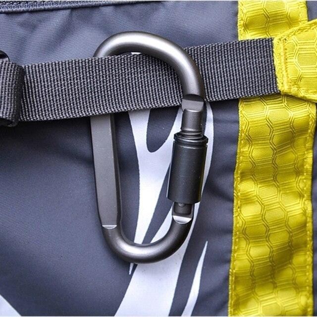 Aluminum Alloy D-Shaped Carabiner Lock Screw Lock Hook Bag Clip Outdoor Camping Keyring Carabiner for Hanging Cords Ropes Hoses