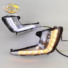SNCN LED Daytime Running Light For Kia Rio K2 2011 2012 2013 2014,Car Accessories Waterproof ABS 12V DRL Fog Lamp Decoration