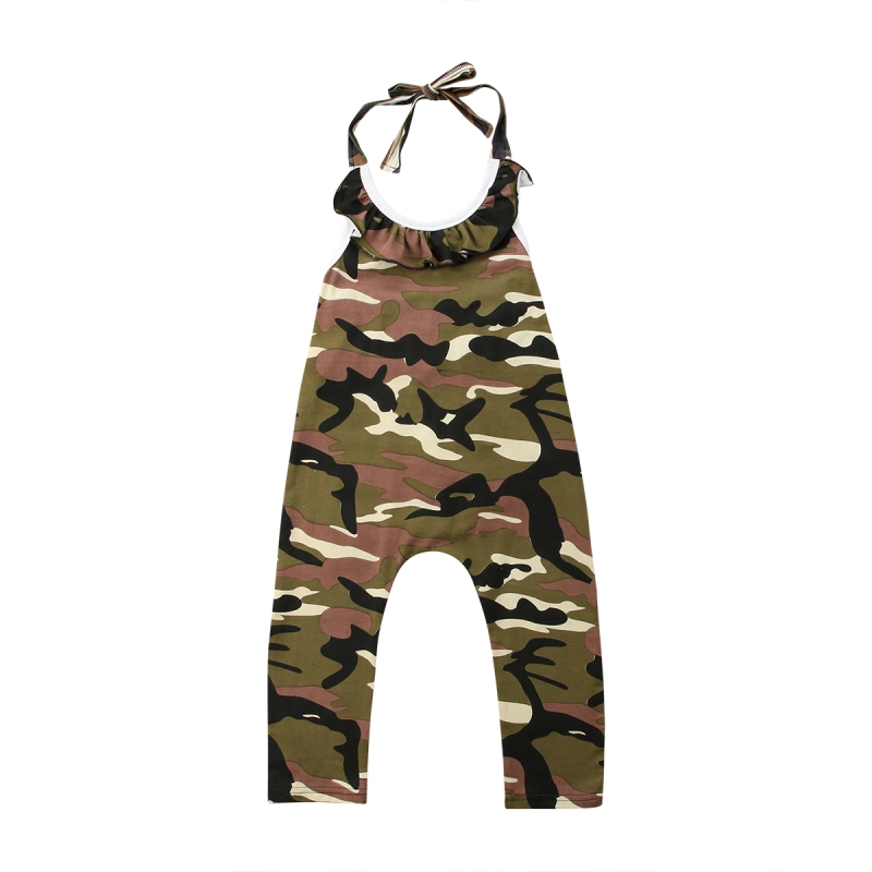 Одежда для малышей для девочек летнее Плиссированное комбинезон Детские комбинезоны одежда спинки ребенка оборками бинты Ползунки Черный