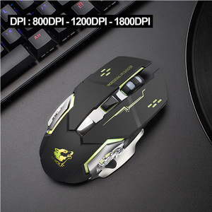 Image 5 - X8 Wireless Rechargeable Game Mouse Silent Illuminated Mechanical 1800Dpi 2.4G USB Wireless 7 Color Mouse A6