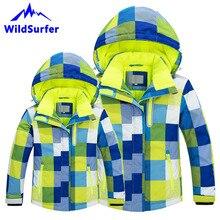 цена на WildSurfer Parent Children Skiing Jacket Winter Men Women Boys Girls Ski Windproof Warm Snow Jackets Child Snowboard Suits W301