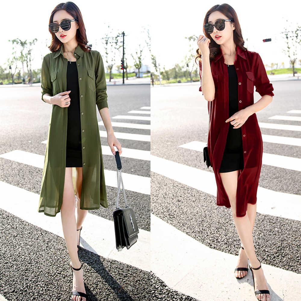 Boho mousseline Kimonos 2019 été femmes Blouses plage Cardigans Chemise tuniques Robe Femme Chemise rouge vert blanc noir haut de kimono