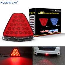 цена на MODERN CAR Rear Triangel Tail Light 20 LED Red LED Brake Lights Universal Stop Reversing Lamp Flash Strobe Car Spoiler Lightting