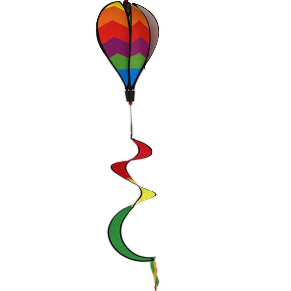 1PCS Hot Air Balloon Grid Windmill Wind Spinner Garden Yard Outdoor Toy Party Favor Supplies