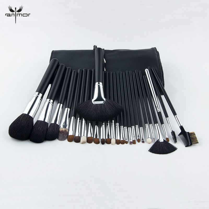 2019 Anmor 26PCS Makeup Brushes Portable Foundation Eyebrow Eyeshadow Cosmetic Contour Brush Soft Synthetic Hair Set