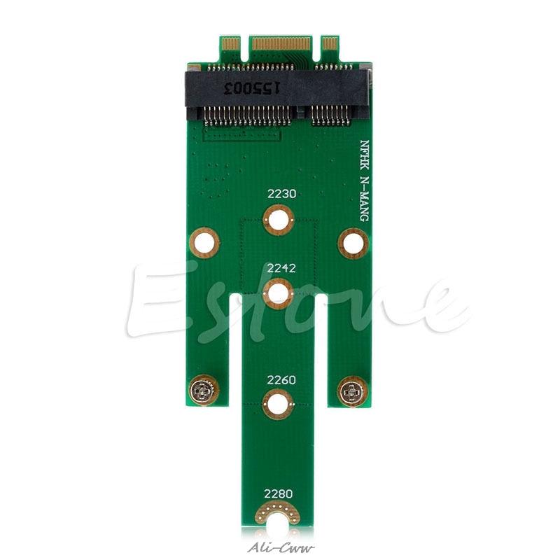 MSATA Mini PCI-E 3.0 SSD To M.2 B Key SATA Interface Adapter Card HOT