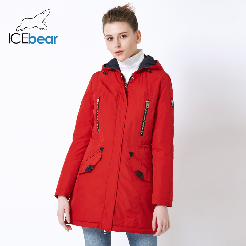 ICEbear 2019 New Brand Clothing Spring   Parka   Women's Long Jacket With Warm Women's Coat Fashion Female Jackets 16G262D