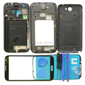 Complete Full Housing Case Cover with Buttons Replacement For Samsung Galaxy Note 2 N7100 Front Outer Glass Lens Repair Kits